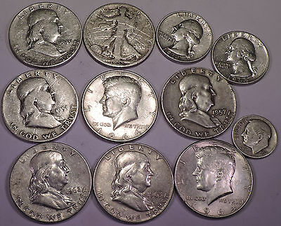 One quarter pound (4 oz) of  90% US Silver Coins  -   Lot B105  -  FREE SHIPPING