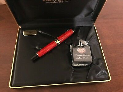 Aurora 75th Anniversary Fountain Pen Customized Extra Fine Nib