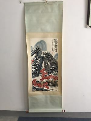 Excellent old Chinese Scroll Painting By Qi Baishi: landscape x018