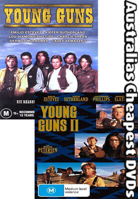 Young Guns 1 & 2 DVD NEW, FREE POSTAGE WITHIN AUSTRALIA REGION 4