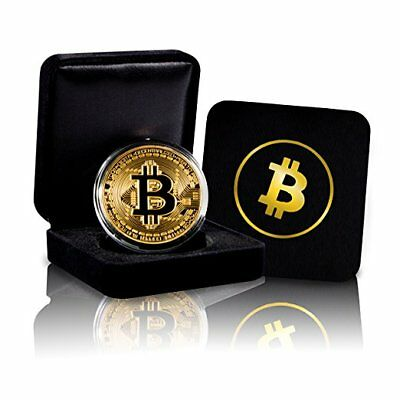 1x Bitcoin Rare 1 oz .999 Pure Solid Gold Plated Commemorative Coin Collectiable