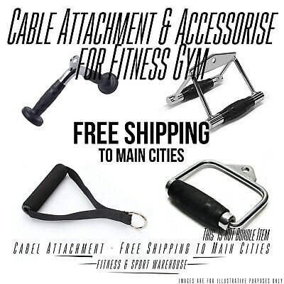 Cable Attachment  Tricep Rope Press Handle Push Pull Lat Row Bar Gym Accessory