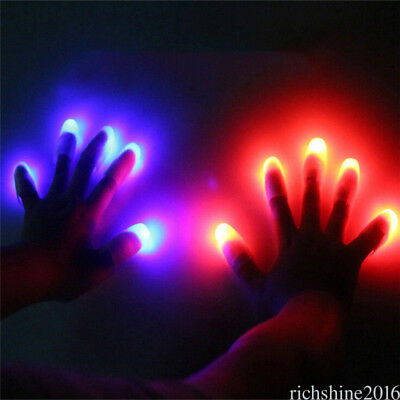 5 x LED Finger Thumbs Light Magic Trick Prop Party Bar Flashlight Magician LPSHG