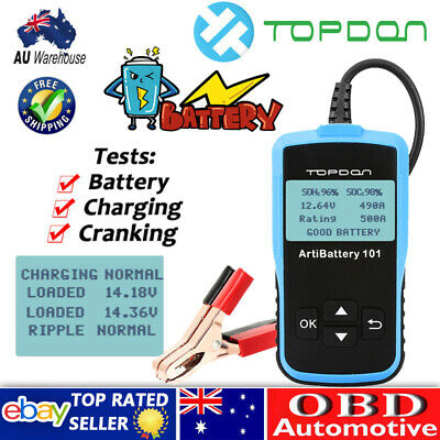 TOPDON ArtiBattery101 Auto Car Boat 12V Battery Charging Tester Analyzer 2000CCA