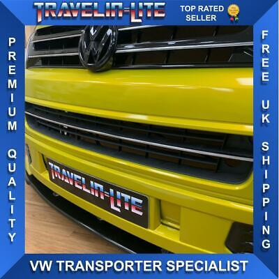 VW T5.1 Chrome Styling Front Bumper Strip Trim Lower Grille 10 - 15 Brand New