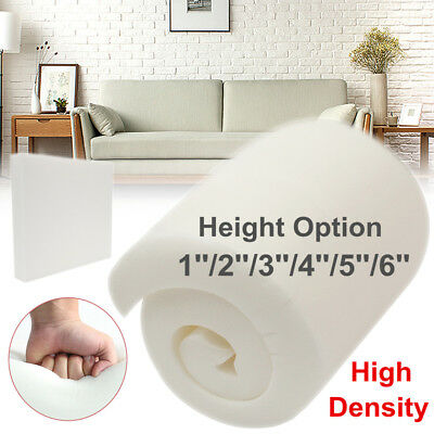 1/2/3/4/5/6'' High Density Seat Foam Sheet Upholstery Cushion Replacement Pads