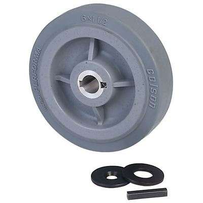 "Ampflow 6"" High-Traction Drive Wheels with 3/4"" Keyed Hubs"