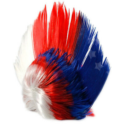 Royal Jubilee Punk Mohican Wig Union Jack Fancy Rocker Dress Z014 Uk