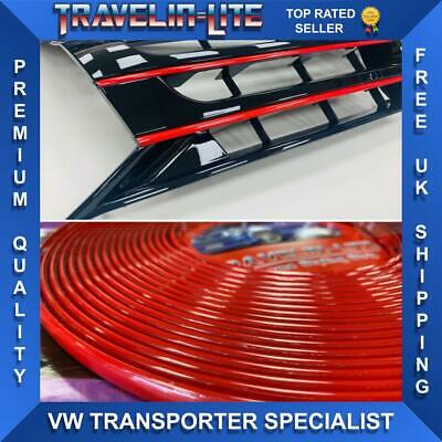 VW T5.1 Red Styling Trim Grille Bumper & DRL 10 - 15 Brand New