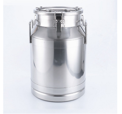 50 Liter 13.25 Gallon Stainless Steel Milk Can Wine Pail Bucket Tote Jug
