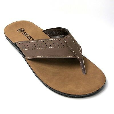 MENS SANDALS BROWN TOE POST SUMMER BEACH HOLIDAY CASUAL FAIRMONT SHOE SIZE 7-11