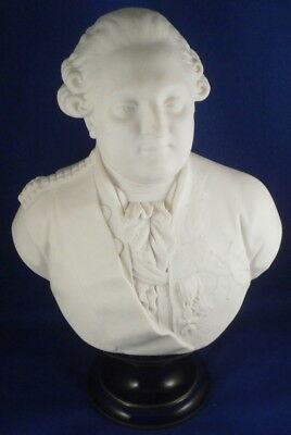 Antique Sevres Porcelain Louis the 16th XVI Bust Husband Marie Antoinette French