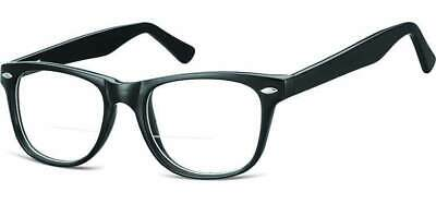 808fdc956a6 Bifocal Reading Glasses Wayfarer Readers Clear No Power on Top by Glazzers