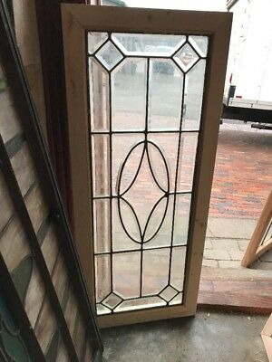 SG 1995 Antique All Beveled Glass Transom Window 19 X 44.75
