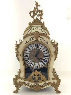 VTG FRANZ HERML Ormolu Boulle Gilt Mantle Clock Italian Made French Style