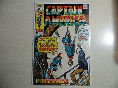 Silver Age Captain America #131 Bucky Reborn/the Hood Vf- 7.5 Condition...