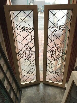 Sg 1996 Two Av Price Each Antique Beveled Transom Window 17.5 X 57