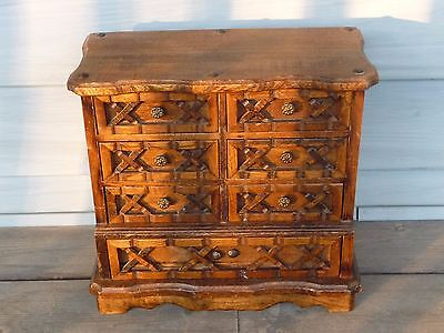 Large Vintage Ornate Wooden Jewelry Box Al Anniversary 41 99 Pic
