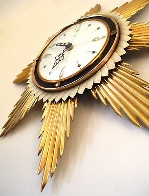 70s fabulous Iconic Mid Century Metamec starburst sunburst wall clock