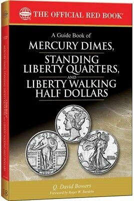 New Official Red Guide Book US Mercury Dimes Standing Liberty Quarters Walking
