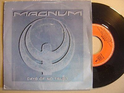 MAGNUM days of no trust / maybe tonight SPANISH 45 POLYDOR 1988ºHEAVY METALº