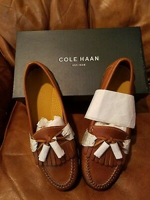 40bdc6cc492 Men s Cole Haan Dwight Saddle Tan Tassle Loafers Size 9.5 M (Brand New in  Box