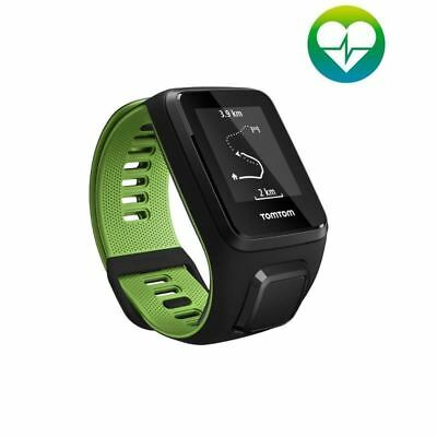 TomTom Runner 3 - Cardio - Large - Black/Green GPS Sports Running Watch (A)