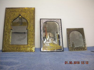 Mirrors Egyptian Or India Lot Of 3