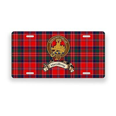 MacGillivray Scottish Clan Novelty Auto Plate Tag Family Name License Plate