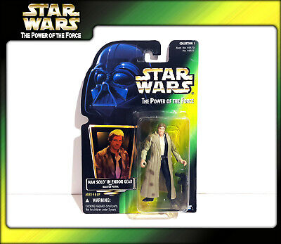 STAR WARS Power of the Force (POTF2): Han Solo in Endor Gear (OVP)