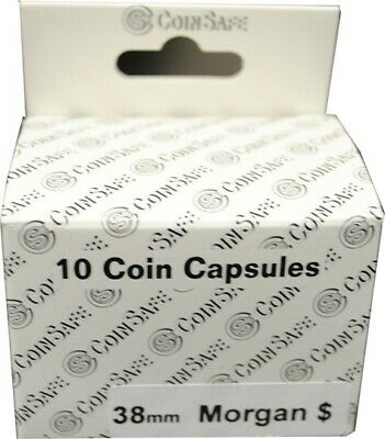 Capsules For Large Morgan Dollar 10 38mm Safe Coin Holders Quality Free US Post