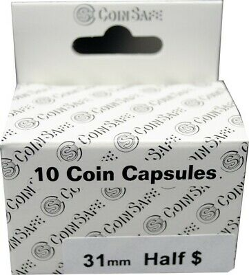 Capsules For Half Dollar 10 31mm Safe Coin Holders High Quality Free US Shipping