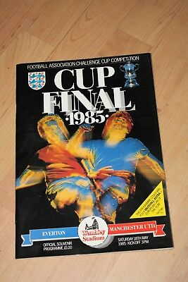 1985 FA Cup Final programme EVERTON v MANCHESTER UNITED Very Good Condition