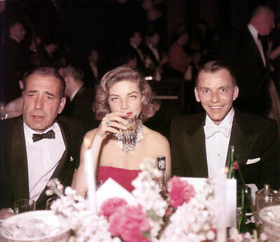 Frank Sinatra, Lauren Bacall & Frank Sinatra UNSIGNED photograph - L3686