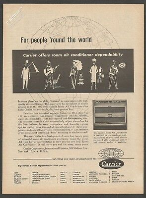 CARRIER Air Conditioner 1957 Vintage Print Ad