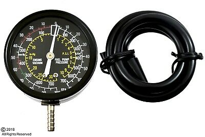 Carburetor Valve Fuel Pump Pressure and Vacuum Tester Gauge Test Tool Kit