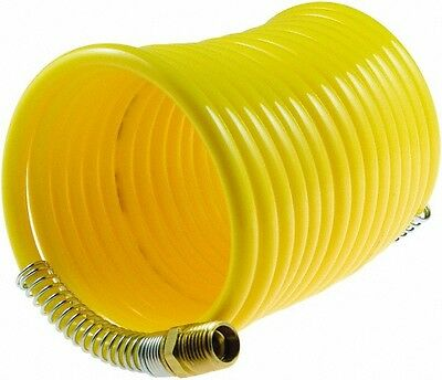 "1/4"" X 50 Ft Nylon Air Recoil Hose With Coil Spring Heads"