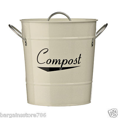 Red Black Cream Odour Beating Compost Pail Caddy Kitchen Food Waste Recycle Bin