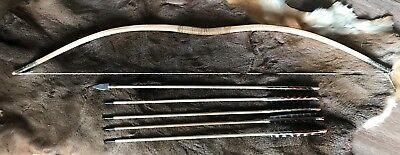 Shoshone / Ute style sinew backed juniper bow and arrows