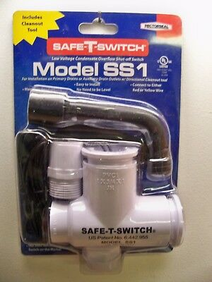 New Rectorseal Ss1 Safe T Switch Overflow Shut Off W Clean Out Tool 1St Cls S&h