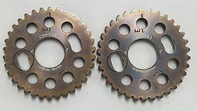 Yamaha R3 Slotted Cam Sprocket Set Graves CSY-15R3