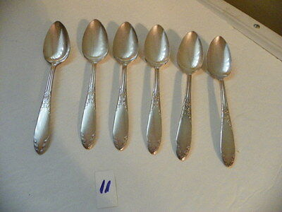 Set Of 6  National Silver Plate Teaspoons King Edward  1936-1951