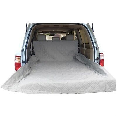 "Deluxe Quilted and Padded Cargo Liner in Grey - One Size Fits All 52"" W x 93""L"