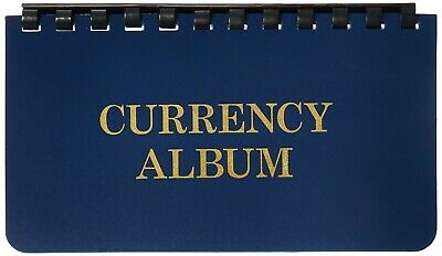 Currency Pocket Album For Small / Fractional Size Notes 10 Pages Harris Whitman