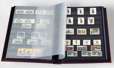 Stamp Collection Album 6.5x9 32 Black Pages Red A5 Stockbook By Lighthouse