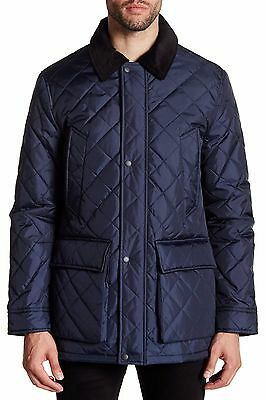 Cole Haan Men's Quilted Barn Jacket, Navy, Size S,  MSRP $400