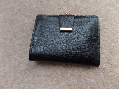 New Vintage England 1960s Women's Black Leather  Wallet/ Purse. Very Good Gift .
