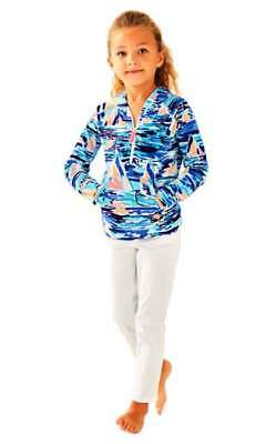 Lilly Pulitzer NWT Girls Little Hooded Skipper Popover Multi Pier Pressure $56