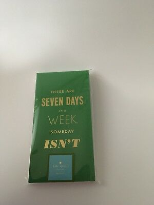 Kate Spade New York, Seven Days A Week Notepad, Brand New $13.99 + Free Shipping