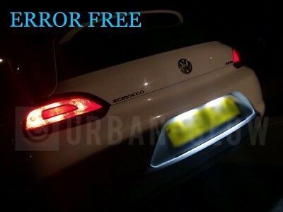 VW SCIROCCO Xenon ICE WHITE LED NUMBER PLATE LIGHT Bulbs CANBUS ERROR FREE